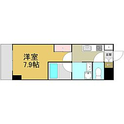名古屋市営名港線 六番町駅 徒歩5分の賃貸マンション 5階1Kの間取り