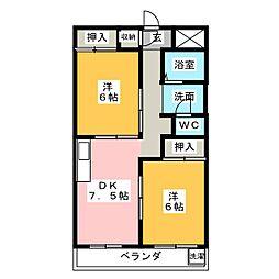 VIP7[3階]の間取り
