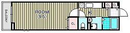 ヴィラ キックス フロントII[1階]の間取り