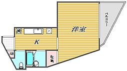 東京都目黒区碑文谷4丁目の賃貸マンションの間取り
