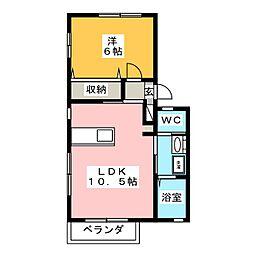 ルールマランB[2階]の間取り