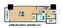 福岡県北九州市八幡西区筒井町の賃貸マンションの間取り