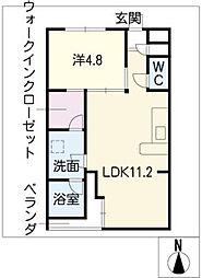 SK'BUILDING−9N棟[3階]の間取り