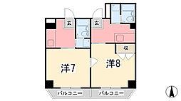 C' house[303号室]の間取り
