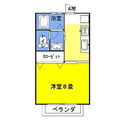 ラフォンテ・チャオ3rd[1階]の間取り