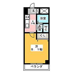 サンモール原[4階]の間取り