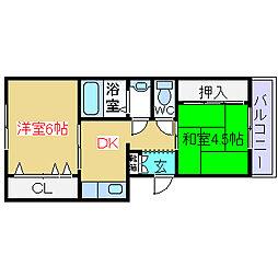 清和幸マンション[2階]の間取り