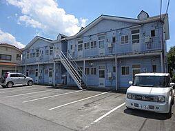 山梨県南アルプス市西南湖の賃貸アパートの外観
