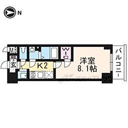 JR東海道・山陽本線 西大路駅 徒歩13分の賃貸マンション 7階1Kの間取り