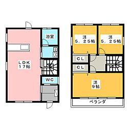 [一戸建] 三重県桑名市星見ヶ丘2丁目 の賃貸【/】の間取り