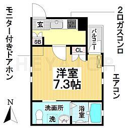 愛知県名古屋市瑞穂区明前町の賃貸アパートの間取り