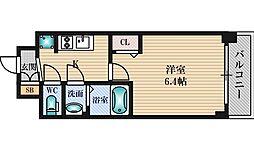 プレサンス新大阪イオリア 4階1Kの間取り