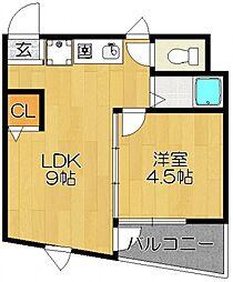 キャッスルマンション松戸 so[305so号室号室]の間取り
