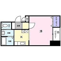 香川県高松市栗林町1丁目の賃貸マンションの間取り