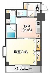 プロスーパー江坂[3階]の間取り
