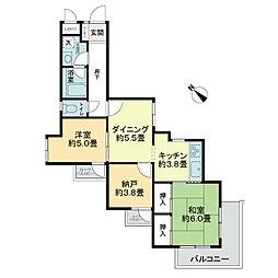 ライオンズマンション金沢八景第6[2階]の間取り