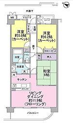 ネオハイツ船橋薬円台公園[3階]の間取り