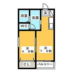ヴィラアバーナ桜台[2階]の間取り