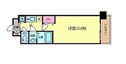 アール京都グレイス 2階1Kの間取り