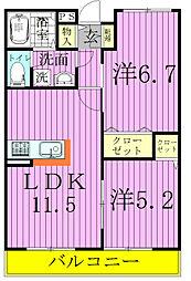 サン・モールIII[2階]の間取り