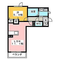 コンフォート名西[2階]の間取り