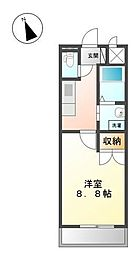 ワイズ パラシオン[3階]の間取り