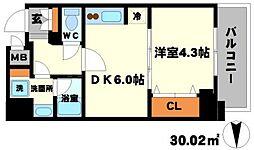 S-RESIDENCE江坂[13階]の間取り