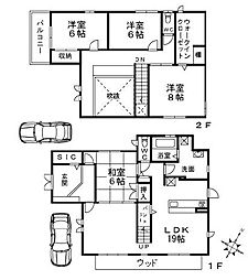 [一戸建] 大阪府高槻市花林苑 の賃貸【/】の間取り