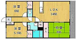 アルカノ−バ[2階]の間取り