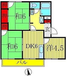 メゾン旭C[2階]の間取り