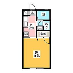 グランドール池田III[1階]の間取り
