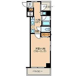 リバーサイド富岡[8階]の間取り