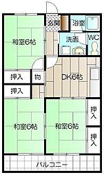 大里東マンション[103号室]の間取り