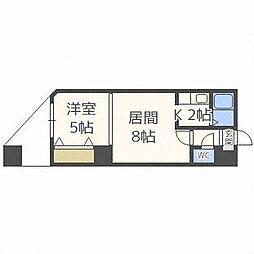 パークヒルズ東札幌[5階]の間取り