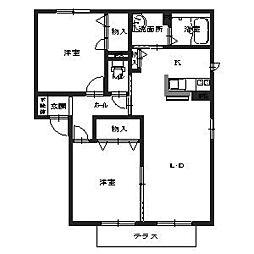 メゾン浜寺A棟[1階]の間取り