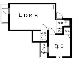 ミングルローザ[4階]の間取り