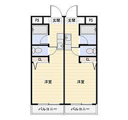 SKマンション[302号室]の間取り
