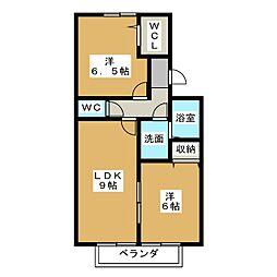 エトワールShun[2階]の間取り