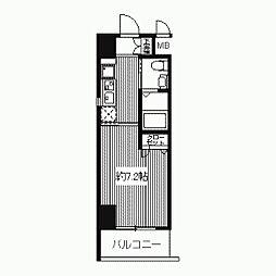 プライムアーバン江坂II[0606号室]の間取り