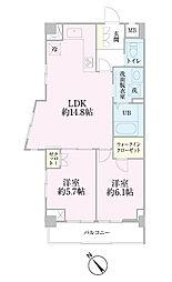 中新井サンライトマンション[302号室]の間取り