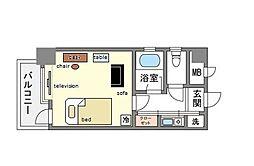 家具・家電付きピュアドーム天神アネックス[4階]の間取り