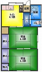 中川コーポ[1階]の間取り