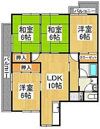 江崎第7ビル[2階]の間取り