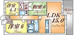 兵庫県神戸市北区緑町7丁目1-27丁目の賃貸マンションの間取り