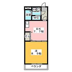E-STAGE I 1階1DKの間取り