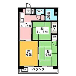 福谷ビル[2階]の間取り