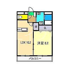 エピナール北久保[3階]の間取り