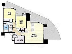 北大阪急行電鉄 千里中央駅 徒歩4分の賃貸マンション 3階3SLDKの間取り