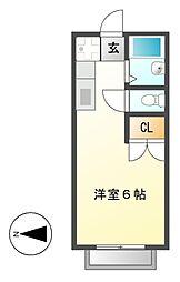 エステートピア神村WEST[2階]の間取り