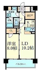 サニープレイス西芦屋2号館 3階1SLDKの間取り